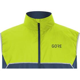 GORE WEAR R7 Partial Gore-Tex Infinium Vest Herrer, deep water blue/citrus green